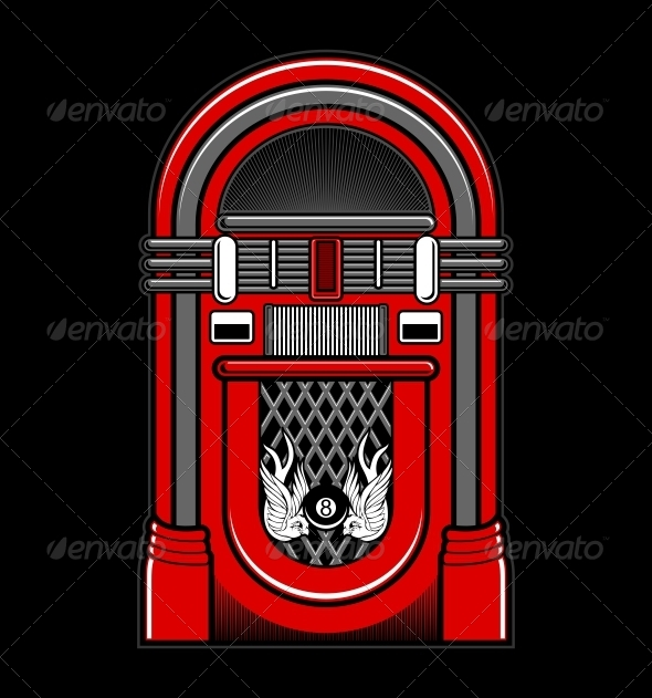 GraphicRiver Classic Jukebox Vector 5393387