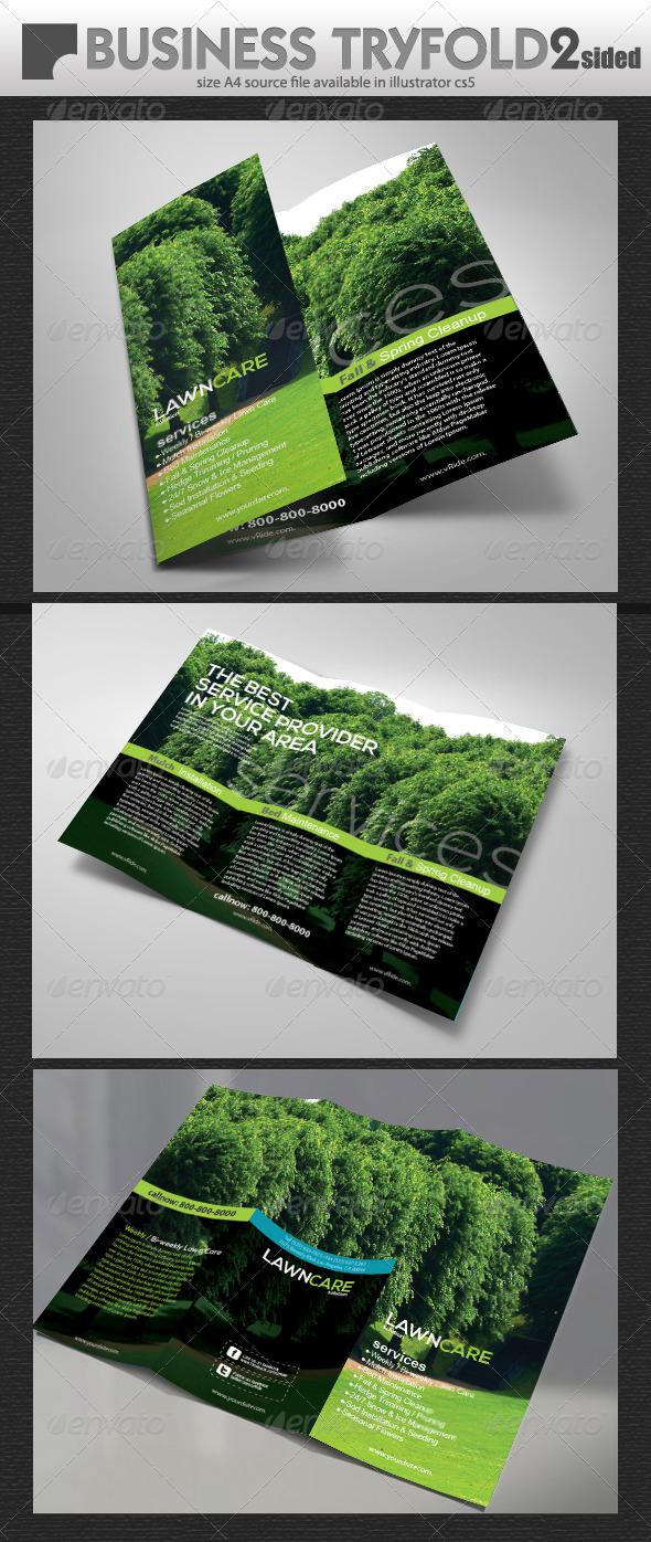 GraphicRiver Lawn Care Tri-Fold 5357957