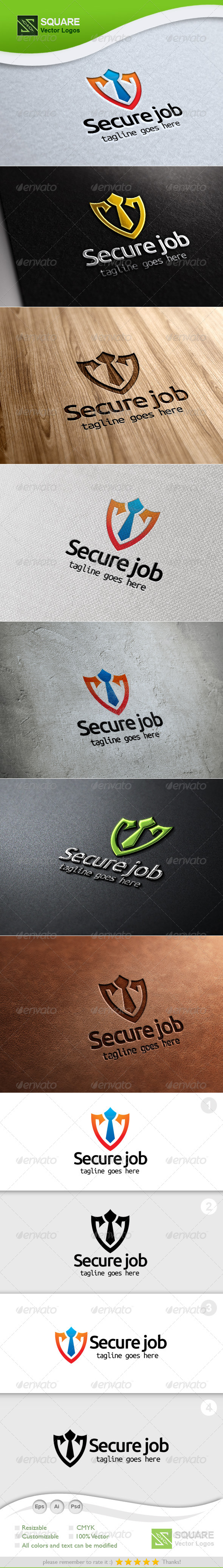 GraphicRiver Shield Tie Vector Logo Template 5393485