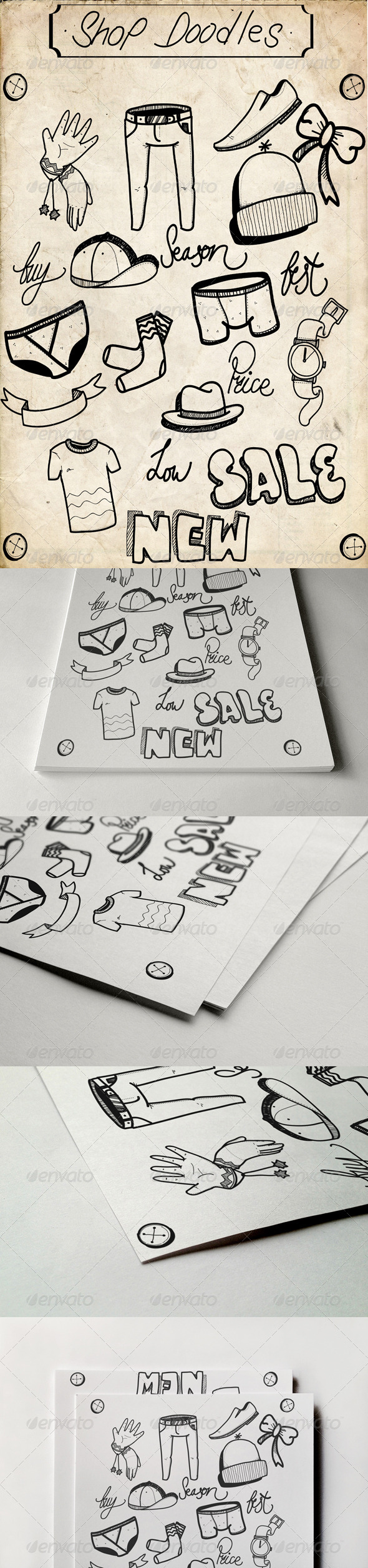GraphicRiver Shop Doodles 5388083