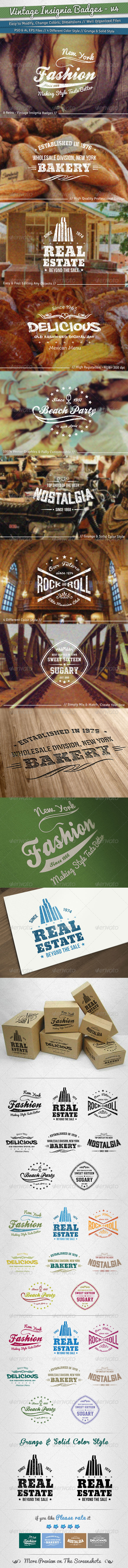 GraphicRiver Vintage Insignia Badges Volume 4 5393564