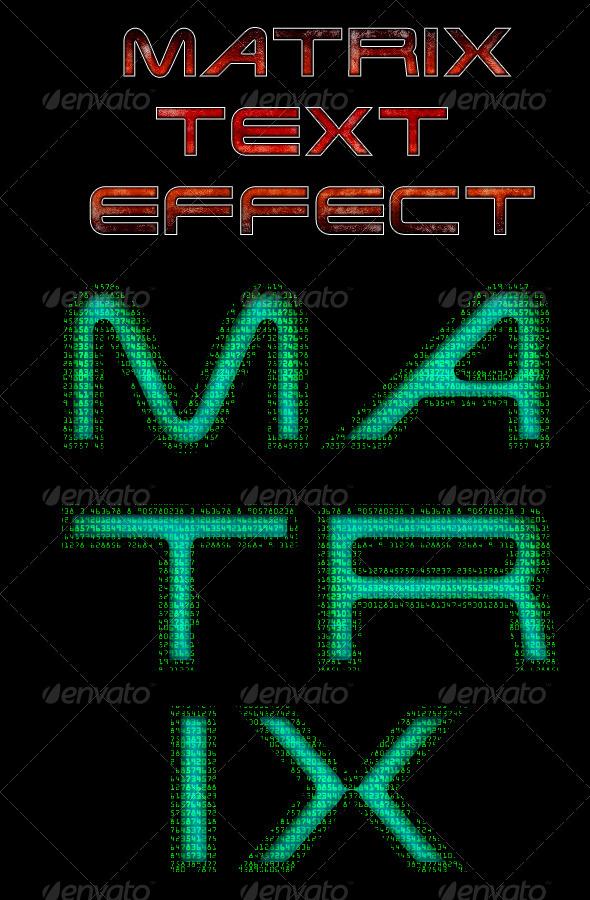 GraphicRiver Matrix Text Style 5393632
