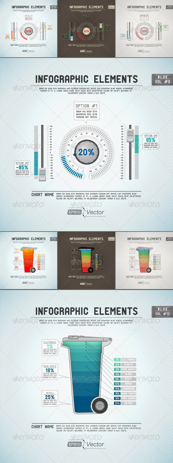 GraphicRiver Infographic Elements Potentiometer And Dustbin 5393828