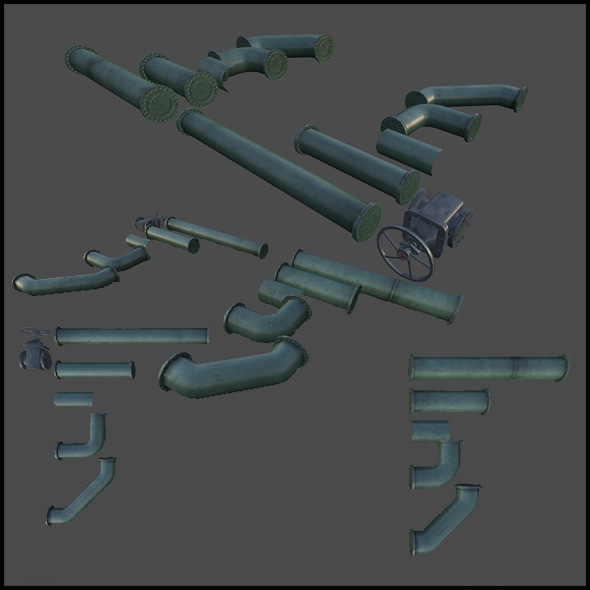3DOcean Oil Pipes Set 5393833