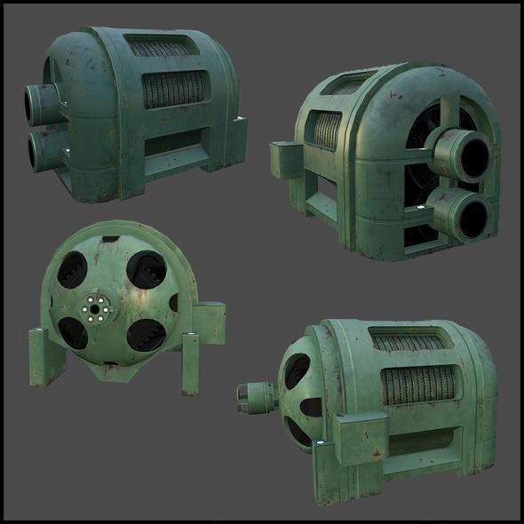 Electric Generator - 3DOcean Item for Sale