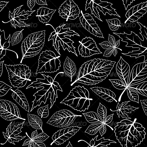 GraphicRiver Seamless Pattern with Tree Leaves 5394266