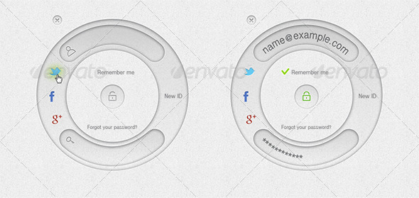 GraphicRiver Login Box in Shape of Annulus 5394338