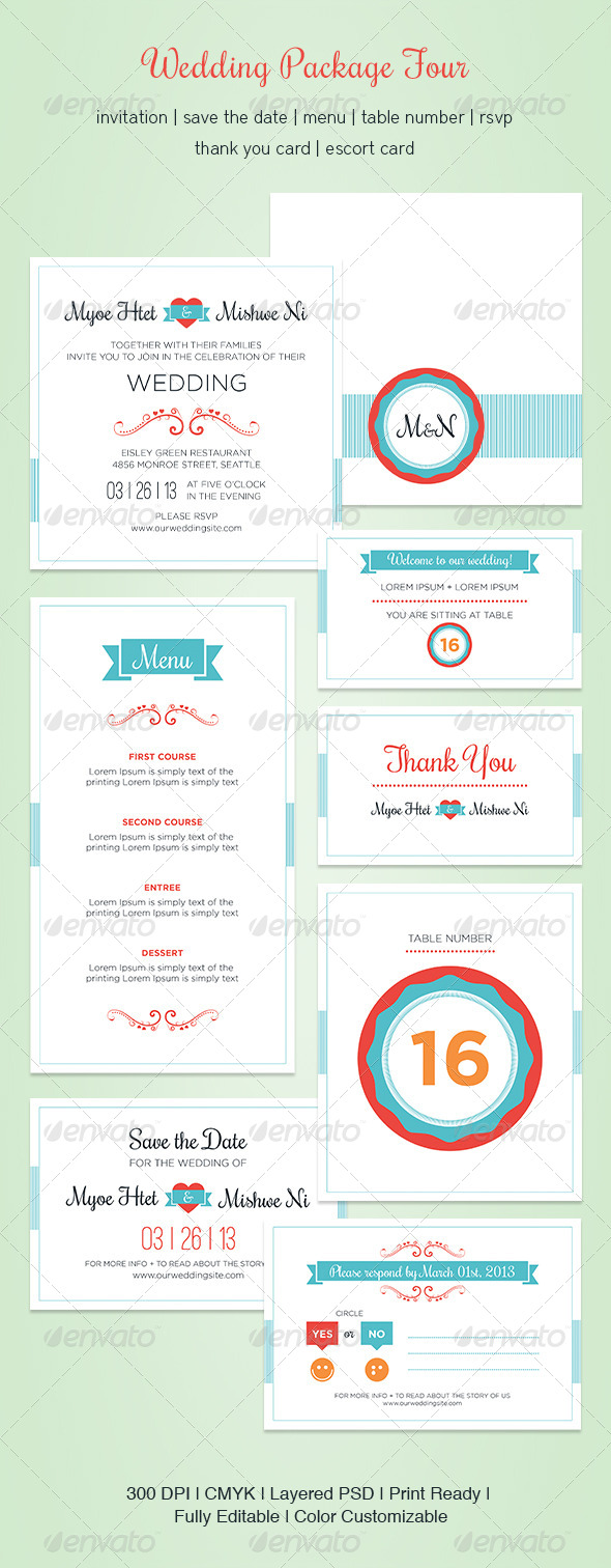 GraphicRiver Wedding Package Four 5394360