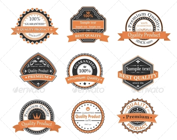 Quality and Warranty Labels - Decorative Symbols Decorative