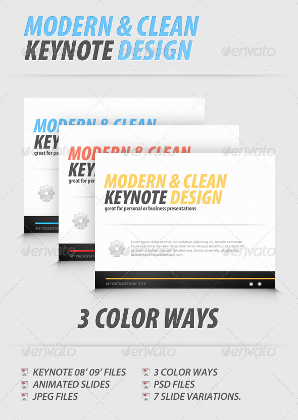GraphicRiver Modern and Clean Keynote Presentation 548099