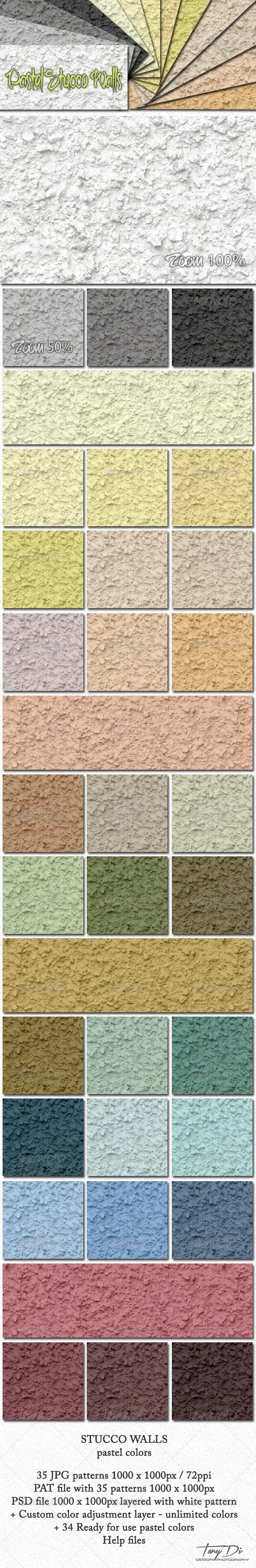 GraphicRiver Pastel Stucco Walls 5389286