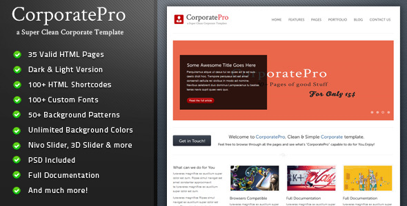 CorporatePro - Clean & Simple Corporate Template