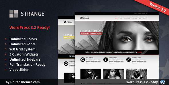Strange - Modern Portfolio WordPress Theme - ThemeForest Item for Sale