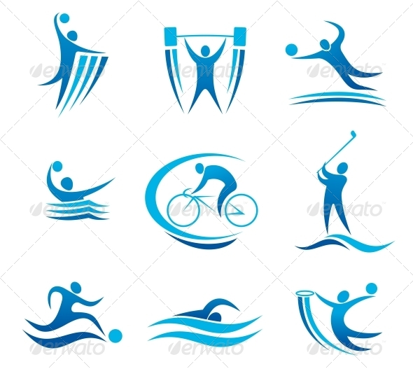 GraphicRiver Sport Symbols and Pictograms 5395079