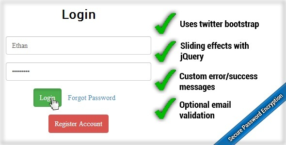 CodeCanyon QwickLogin Secure Login Register System 5373811