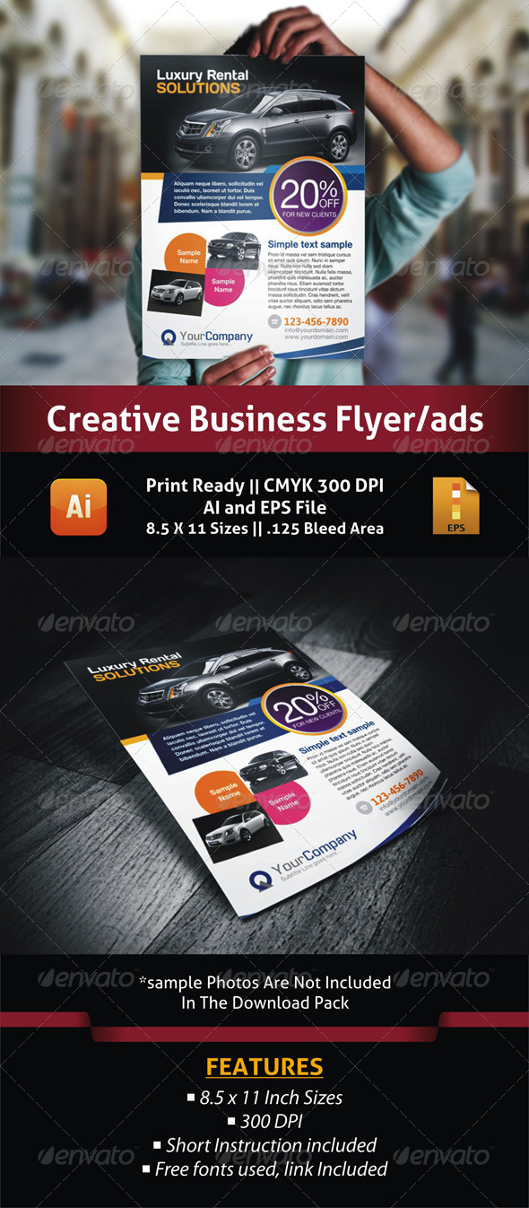 GraphicRiver Luxury Car Business Flyer Ads 5395687