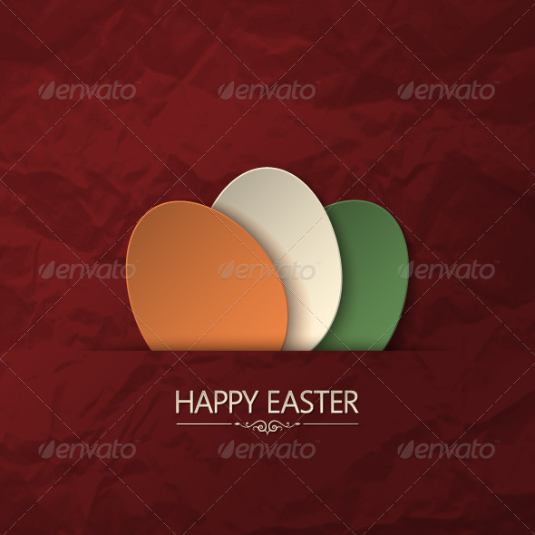 GraphicRiver Vintage Easter Card 5396131