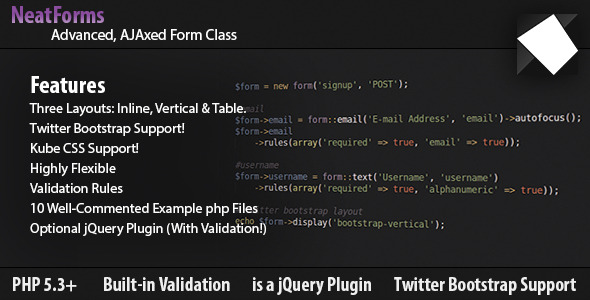 Form Class - AJAX, Validation, jQuery & Bootstrap - CodeCanyon Item for Sale