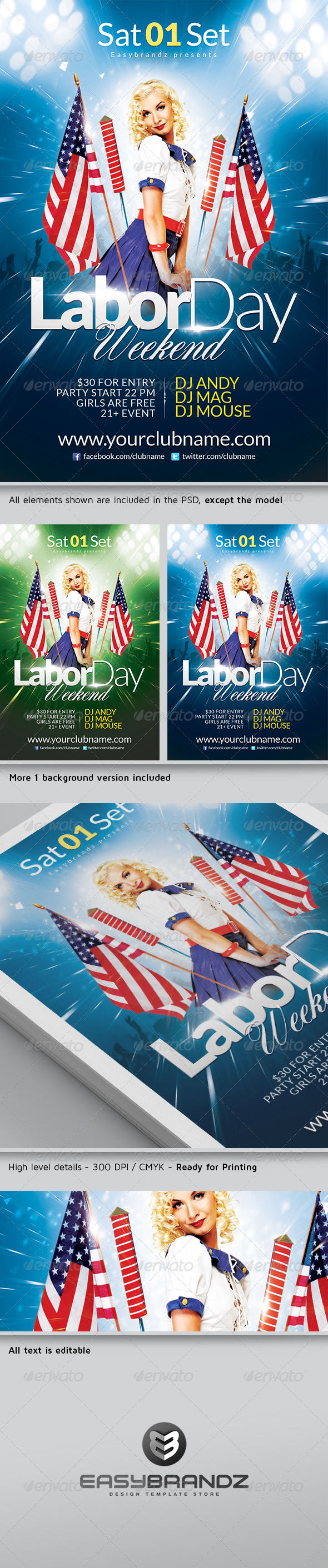 GraphicRiver Labor Day Flyer Template 5396266
