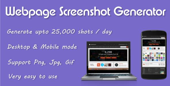 CodeCanyon Webpage Screenshot Generator 5373149
