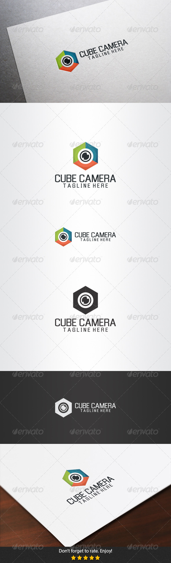 GraphicRiver Cube Camera Logo 5396365