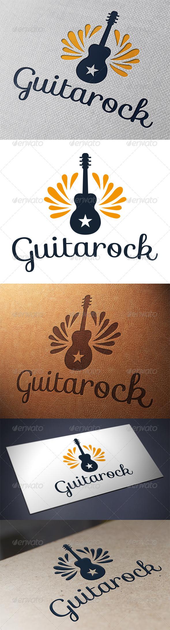 GraphicRiver Guitar Rock Logo Template 5396727