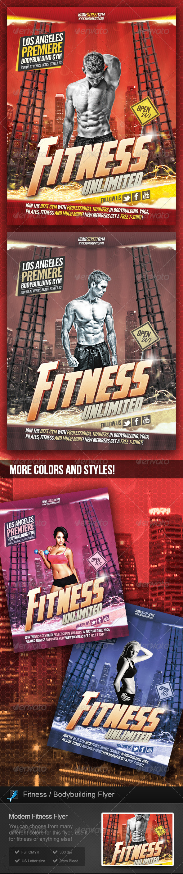 GraphicRiver Fitness Bodybuilding Flyer 5396780