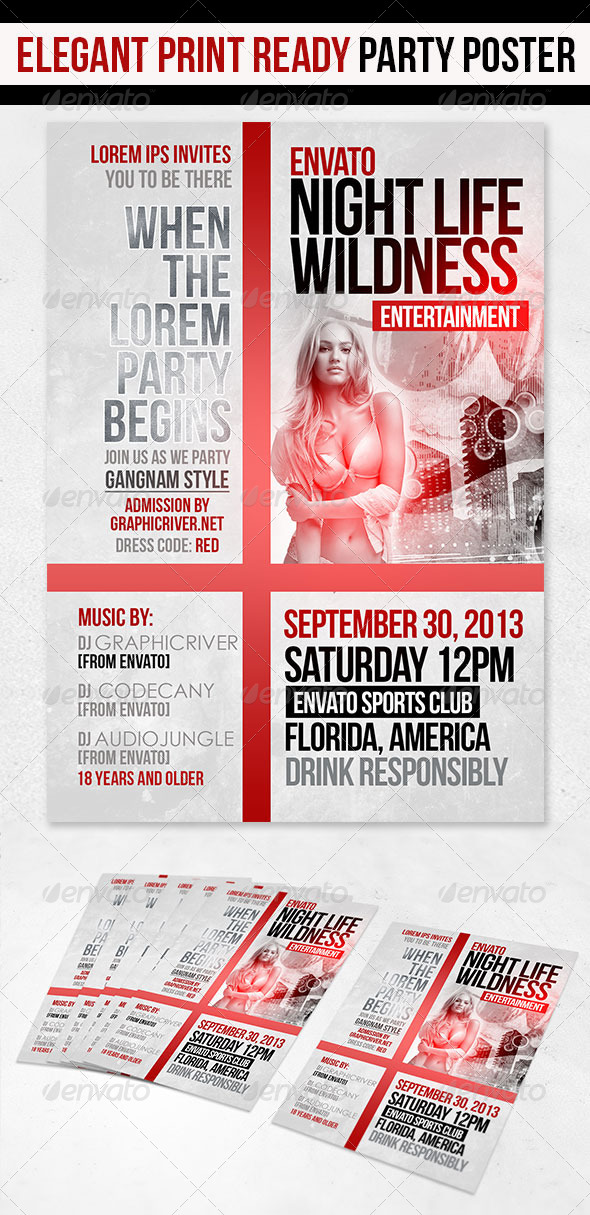 GraphicRiver Nightlife Party Flyer 5357090