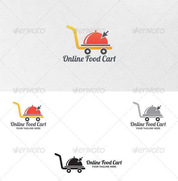 GraphicRiver Online Food Cart Logo Template 5397349