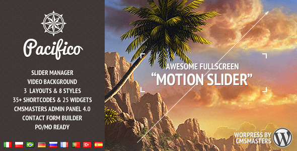 Pacifico - Fullscreen wp theme with motion effect - Photography Creative