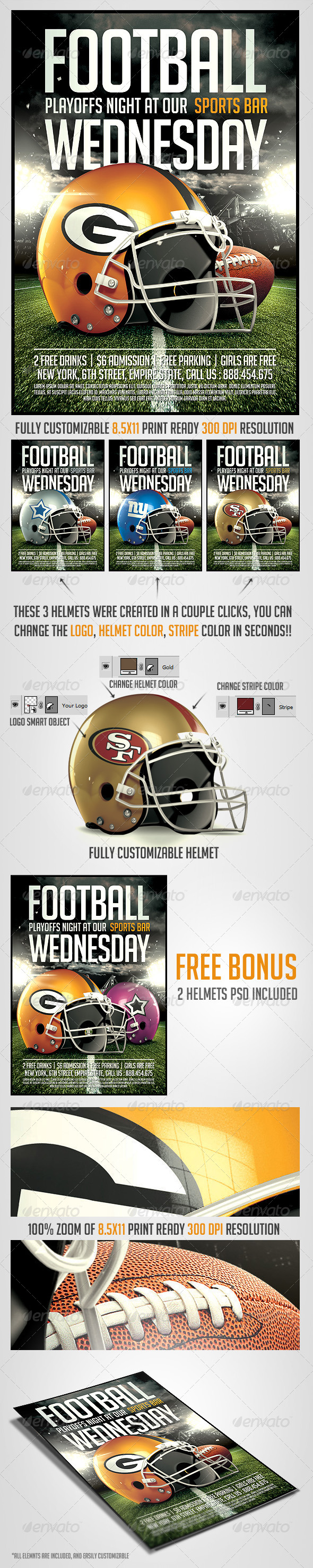 GraphicRiver Football Night Flyer Template 5360741