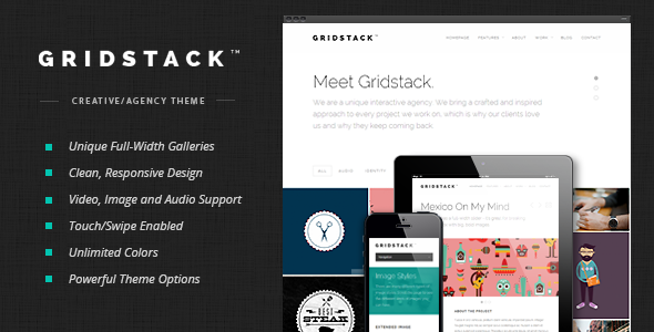ThemeForest GridStack Responsive Agency WordPress Theme 5397835