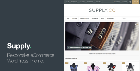 ThemeForest Supply Responsive eCommerce WordPress Theme 5397981