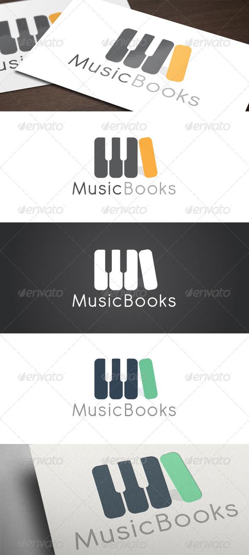 GraphicRiver Music Books Logo 5391765