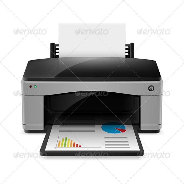 GraphicRiver Realistic Printer 5398101