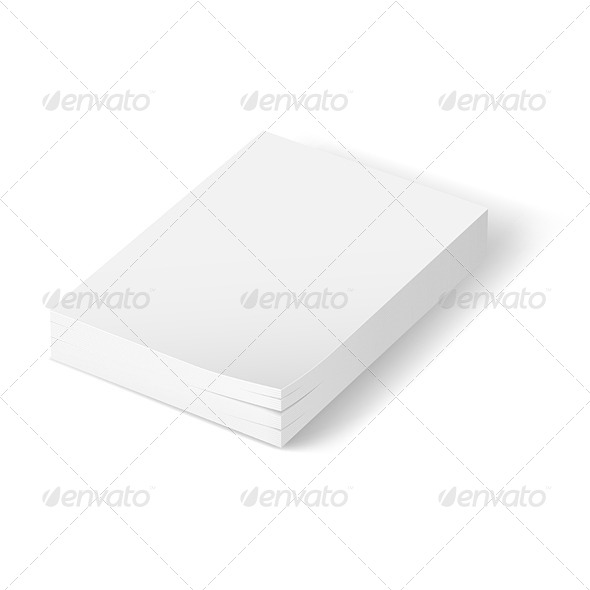 GraphicRiver Stack of Blank Paper 5398148