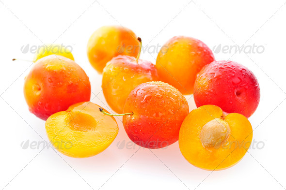 Yellow plums - Stock Photo - Images