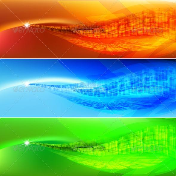 GraphicRiver Colored wave 5398232