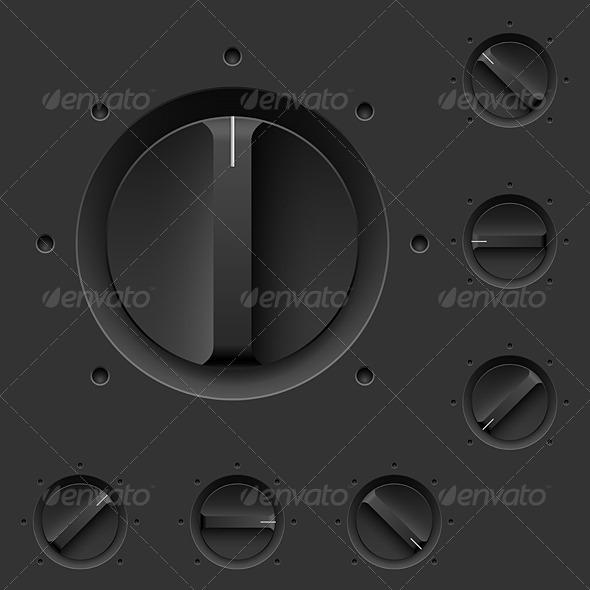 GraphicRiver Black Control Panel 5398240