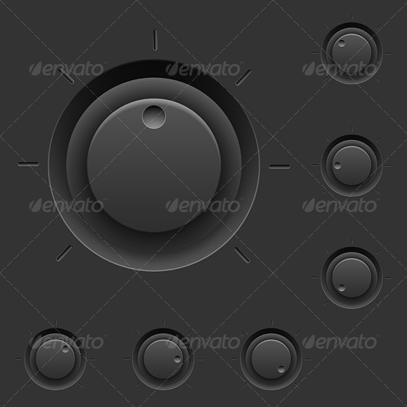 GraphicRiver Black Control Panel 5398242