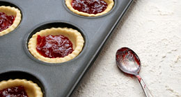 Pastry and jam tarts