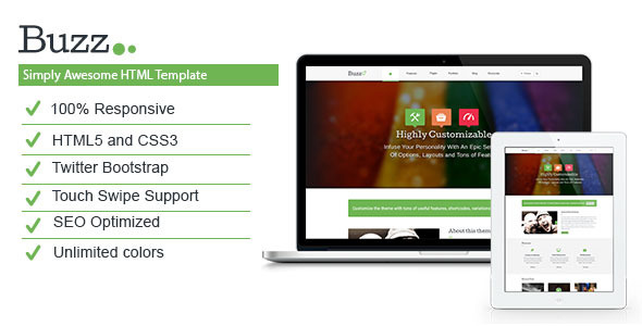 ThemeForest Buzz- Multipurpose HTML5 Template 5392024