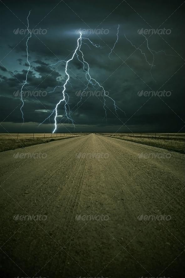 PhotoDune Lightning Storm Ahead 554880