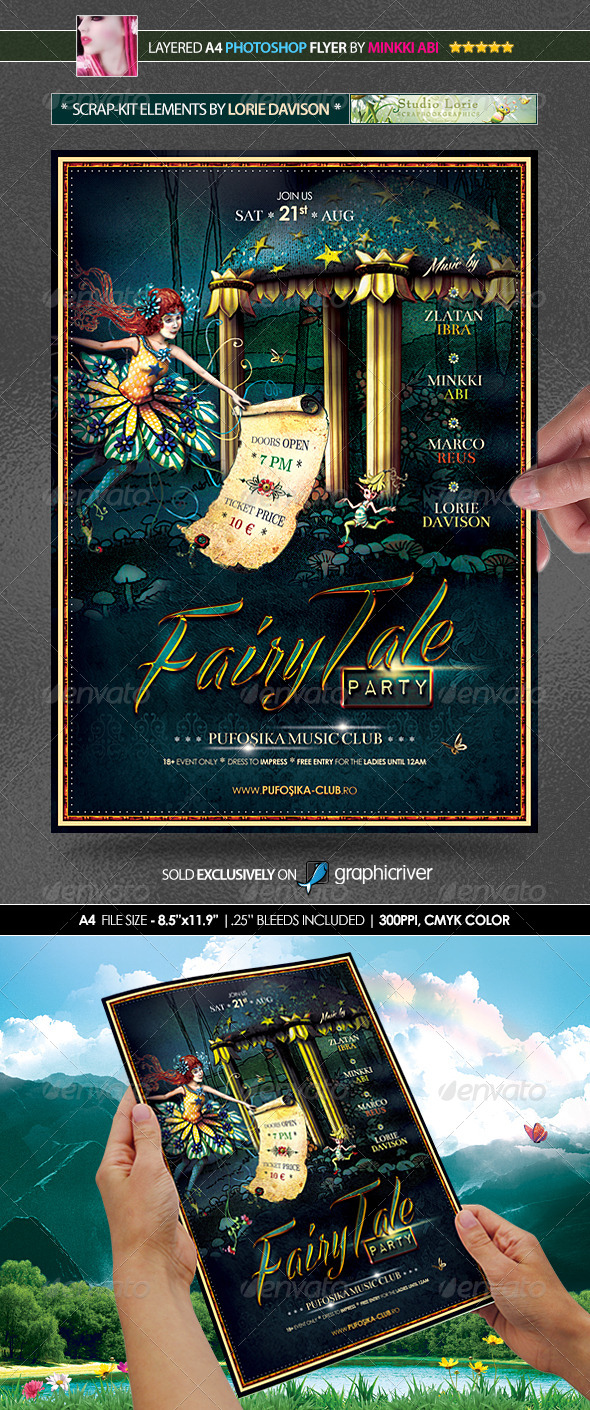 Fairytale halloween poster flyer graphicriver for Fairy tale book cover template