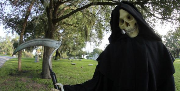 Grim Reaper In Graveyard 4