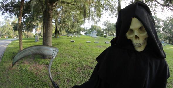 Grim Reaper In Graveyard 5