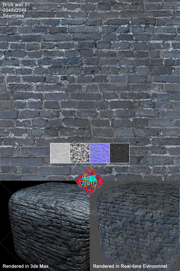 3DOcean Brick wall texture 01 5400108