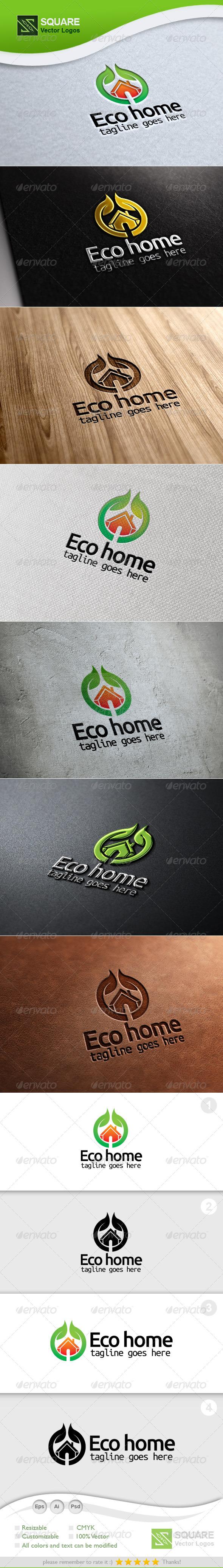 GraphicRiver Eco Home Vector Logo Template 5400162