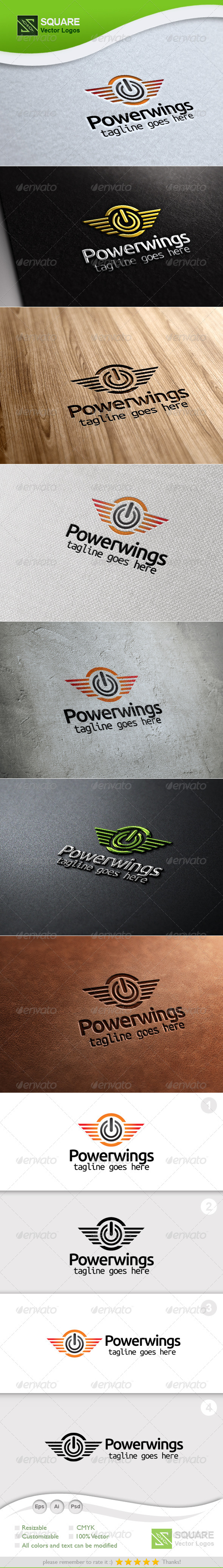 GraphicRiver Power Wings Vector Logo Template 5400693
