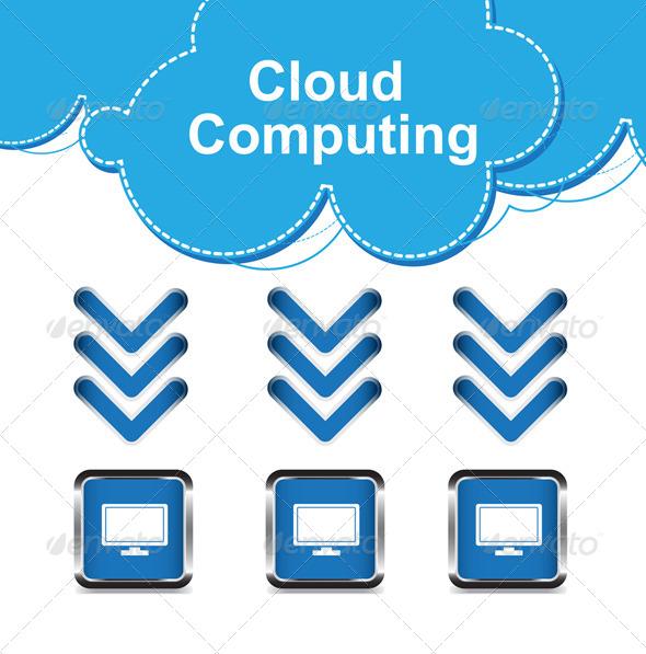 GraphicRiver Cloud Computing Concept 5400847